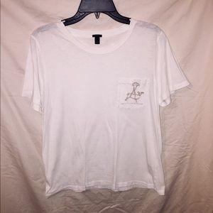 White and Gold J. Crew Shirt.